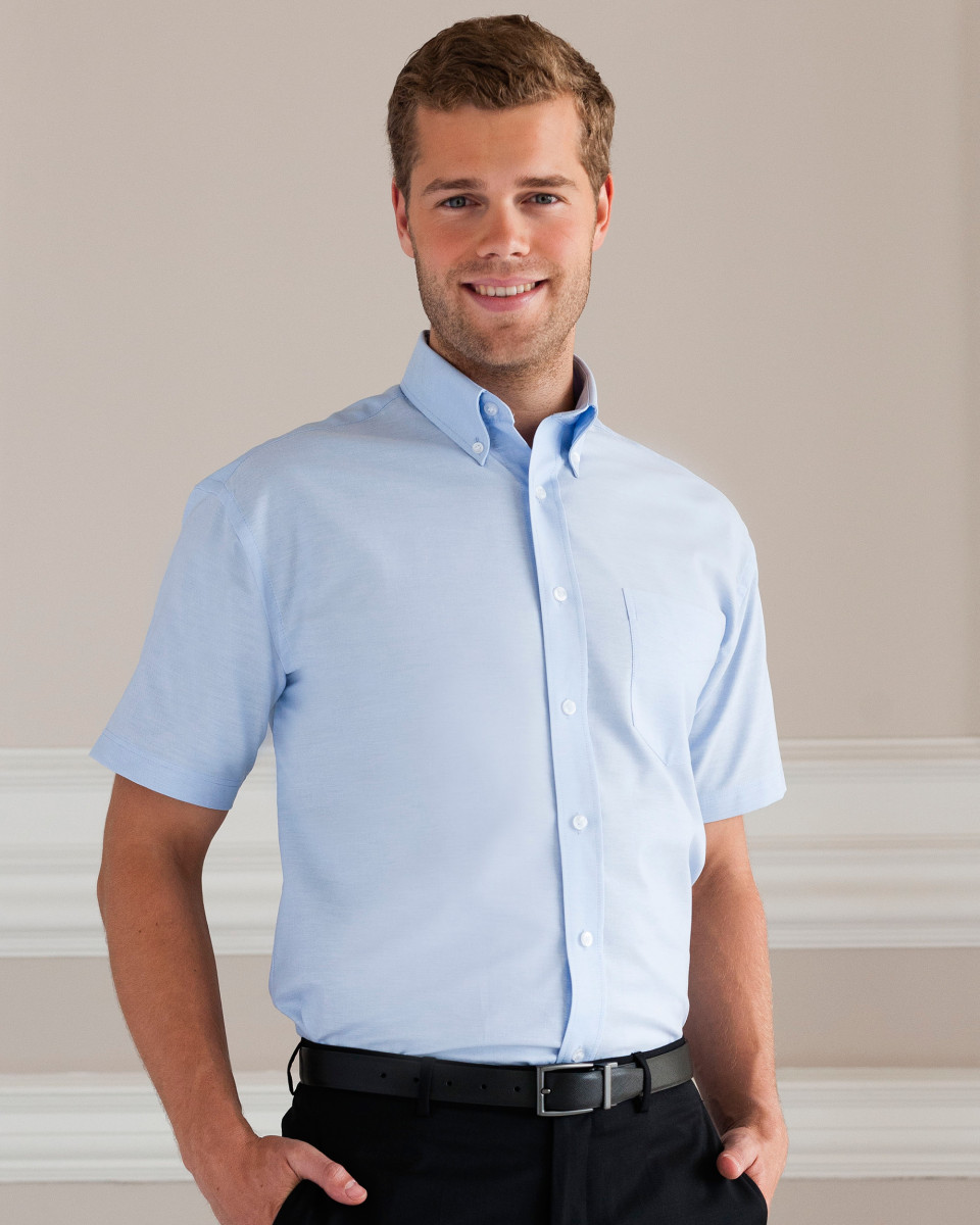933m Russell Collection Men S Short Sleeve Easy Care