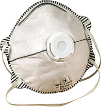BBP2CV P2 VALVED CHARCOAL MASK(Qty 10)