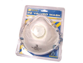 BS032 PRE PACK P2 VALVED MASK - 3/PACK