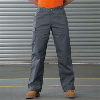 9726db51a5b J001M Russell Workwear Poly Cotton Twill Workwear Trousers